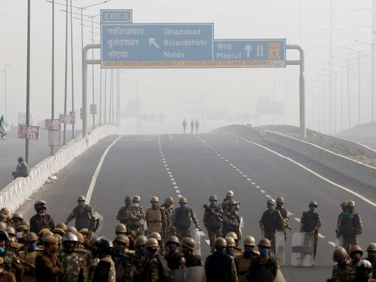 Police Ghaziabad farmers strike