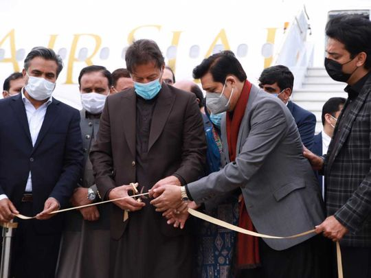 Pakistan Prime Minister Imran Khan inaugurates Pakistan's new private airline, AirSial,