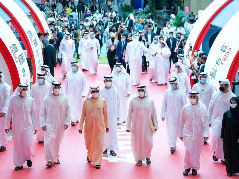 Sheikh Mohammed bin Rashid Al Maktoum tours GITEX 2020
