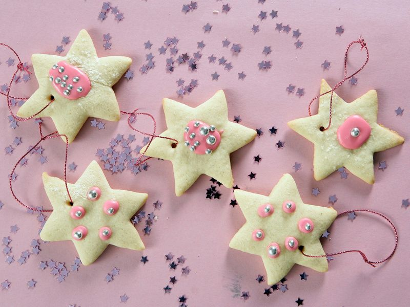 Star iced cookies
