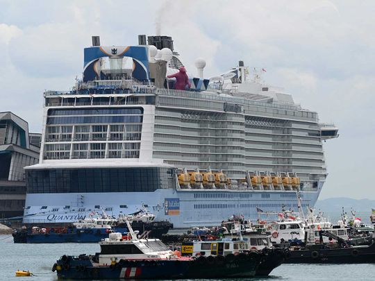 The Royal Caribbean cruise ship