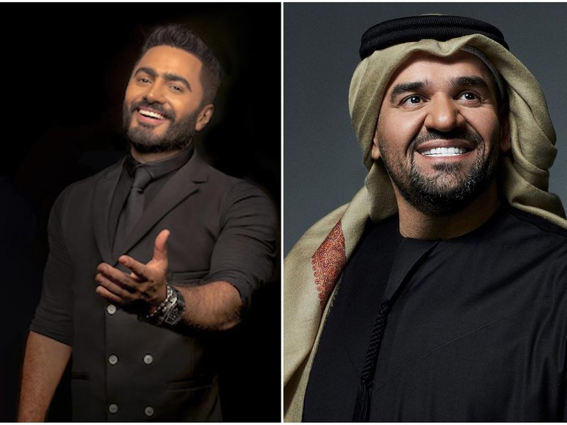 Hussain Al Jassmi and Tamer Hosny