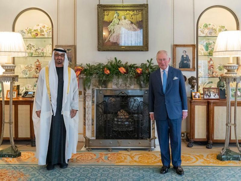 Sheikh Mohammed with Prince Charles