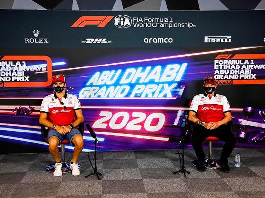 Alfa Romeo teammates Antonio Giovinazzi and Kimi Raikkonen speak ahead of the Abu Dhabi Grand Prix