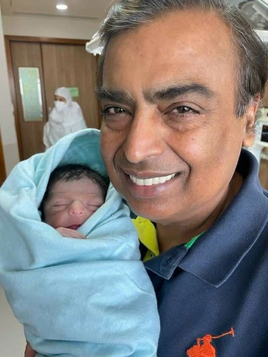 Anil Ambani with Grand son