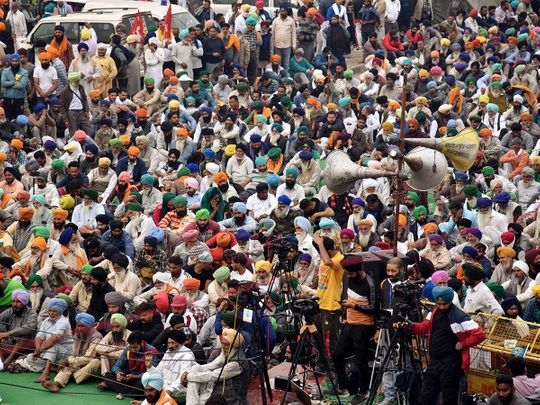 Farmers protest Delhi India