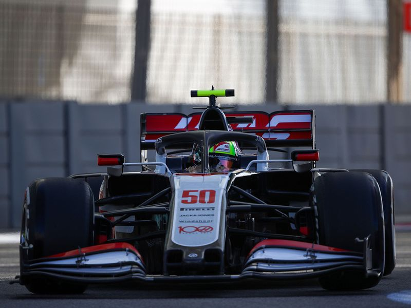 Haas test driver Mick Schumacher at Yas during Abu Dhabi Grand Prix practice
