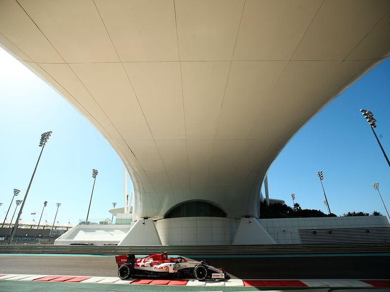 Haas test driver Robert Kubica at Yas during Abu Dhabi grand Prix practice