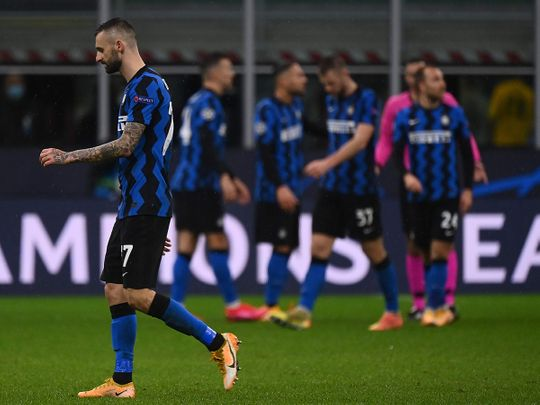 Inter Milan were dumped out of Europe