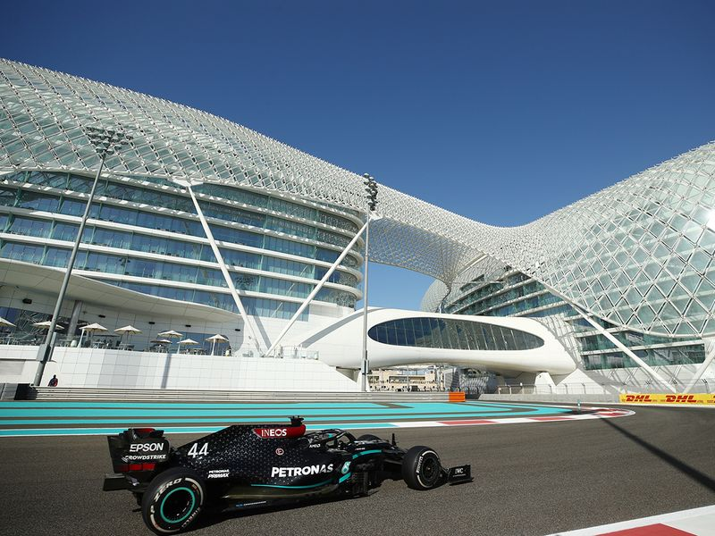Mercedes' Lewis Hamilton got back on track at Yas Marina Circuit during Abu Dhabi Grand Prix practice