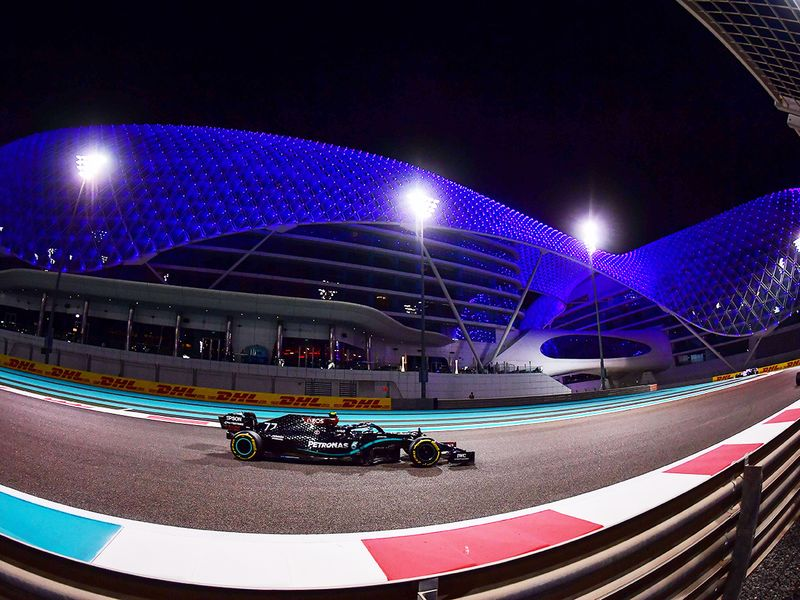 Valtterio Bottas during FP2 ahead of the Abu Dhabi Grand Prix