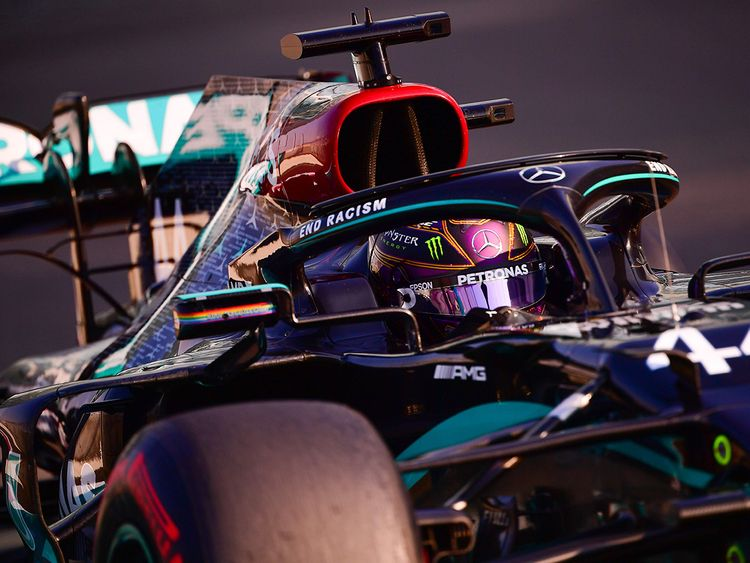 Mercedes' Lewis Hamilton during FP3 at the Abu Dhabi Grand Prix