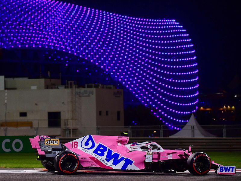 Racing Point's Lance Stroll in Abu Dhabi