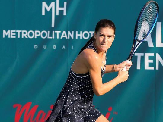 Sorana Cirstea defeats brave Katerina Siniakova to claim the Al Habtoor tennis title