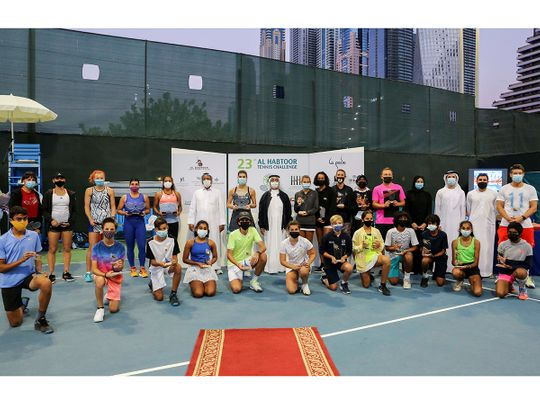 All the winners from the Al Habtoor Tennis Challenge