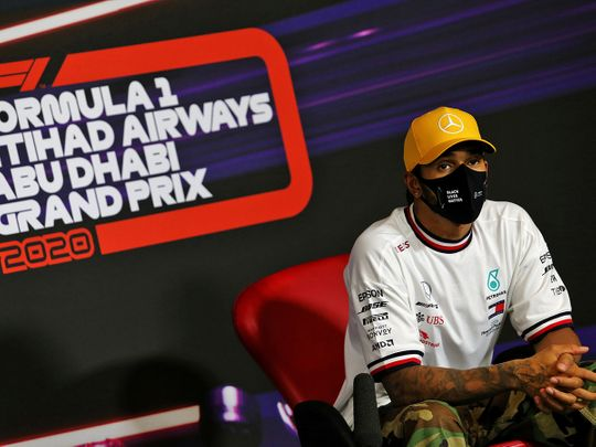 Lewis Hamilton speaks of his illness ahead of the Abu Dhabi Grand Prix