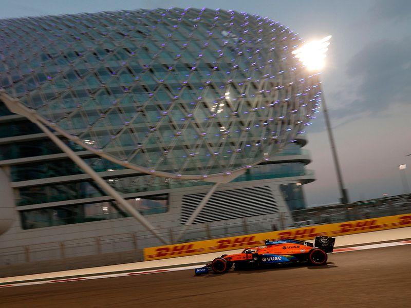 McLaren during the Abu Dhabi Grand Prix