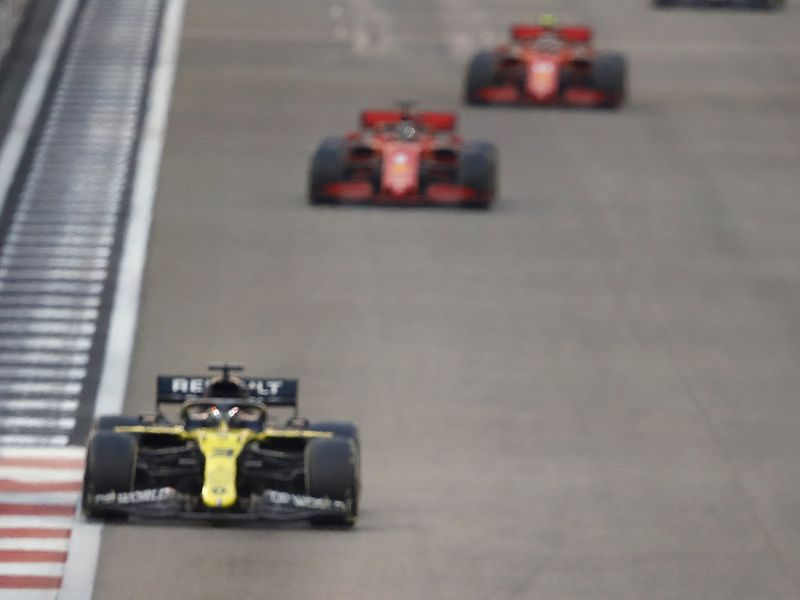 Ferrari trail at the Abu Dhabi GP