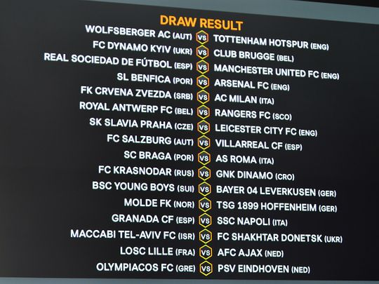 The Europa League draw