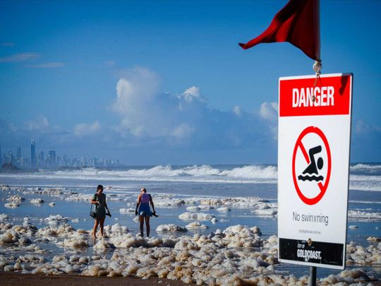 Australia storm rain beach cyclone