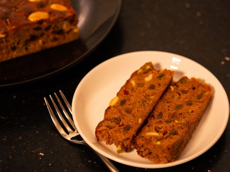 Kolkata-style Christmas Fruitcake final sliced
