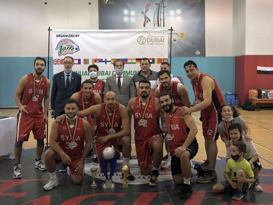 Syria won the Dubai Community Basketball Cup at Al Nasr Club
