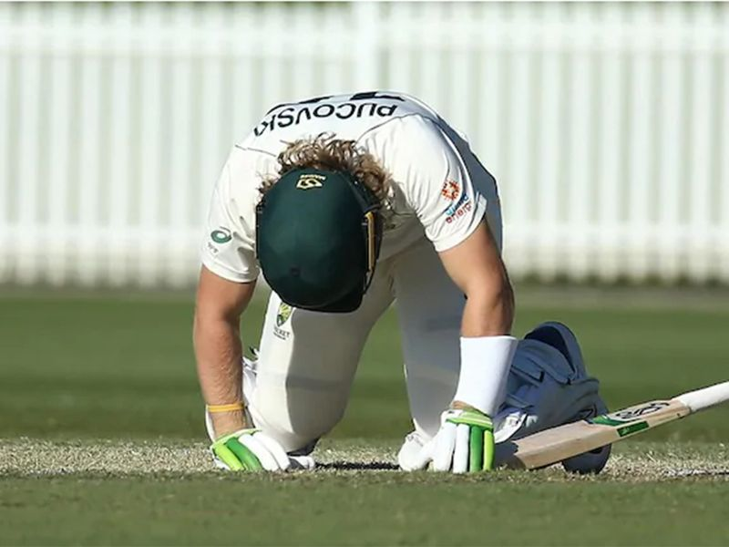 Will Pucovski was forced to retire hurt after he was hit on the head while batting for Australia A