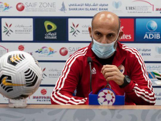 Sharjah coach Abdulaziz Al Anbari