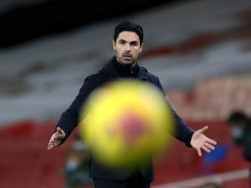 Mikel Arteta during the draw against Southampton
