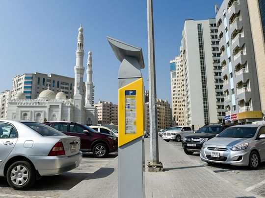Stock Paid parking Sharjah