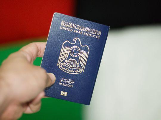 Stock UAE Emirati passport