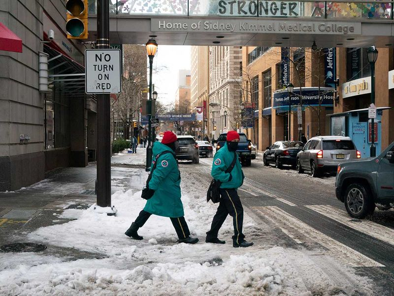 Snow US Pennsylvania Philadelphia