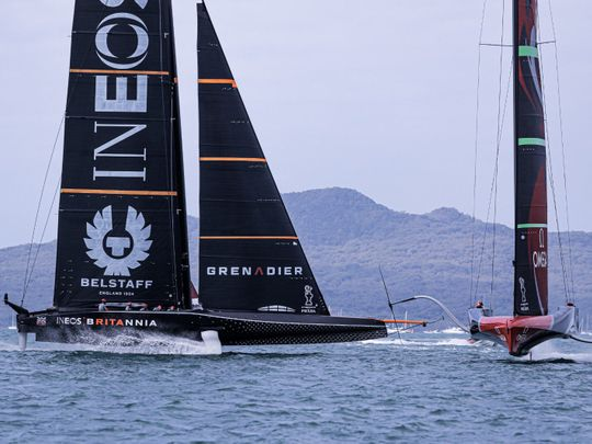 Ben Ainslie's INEOS Team UK yacht has struggled in the Americas Cup warm-up event in Auckland