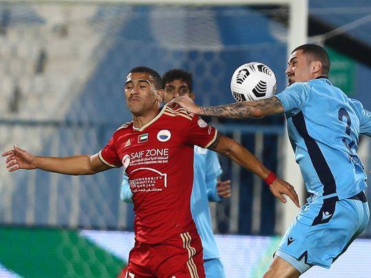 Sharjah lost 2-1 to Bani Yas