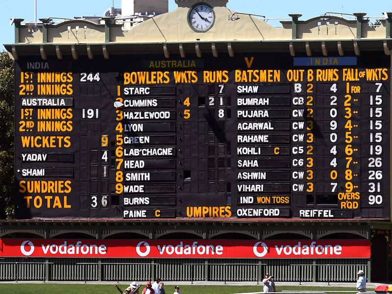 The scoreboard said it all at as India were thrashed in Adelaide