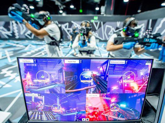 Virtual reality gaming in Dubai