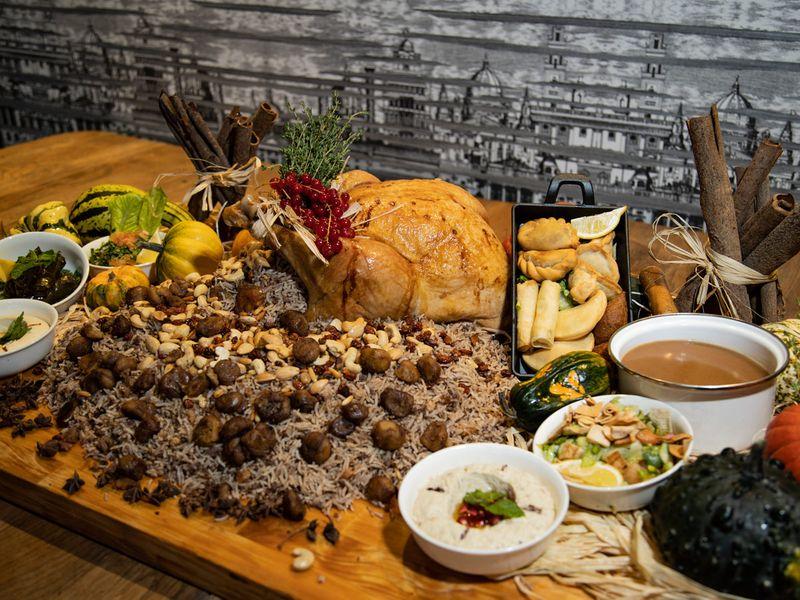 Lebanese-style roast turkey with oriental rice
