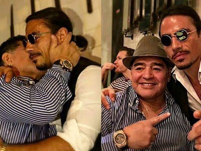 Maradona visits Salt Bae.