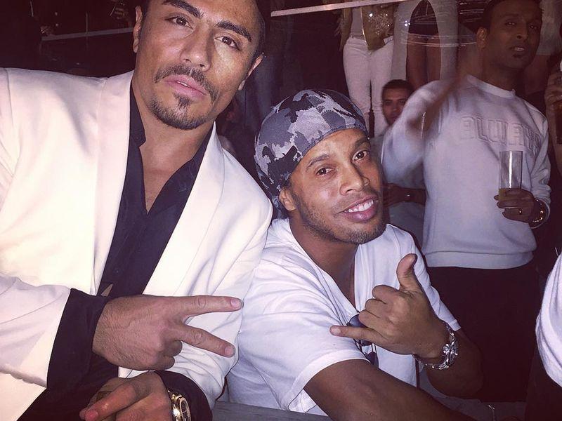 Ronaldinho and Salt Bae.