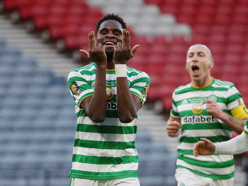 Celtic's Odsonne Edouard celebrates