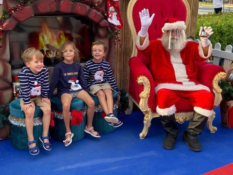 Kirsty's children have enjoyed magical moments such as meeting Santa, with all COVID precautions in place