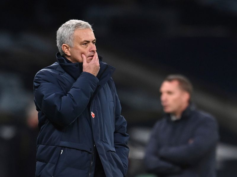Tottenham's Jose Mourinho saw his side lose to Leicester