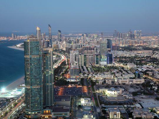 Abu Dhabi skyline.