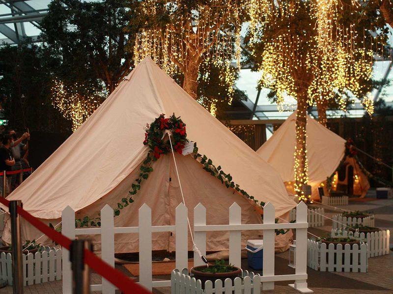 Glamping tent Changi Singapore