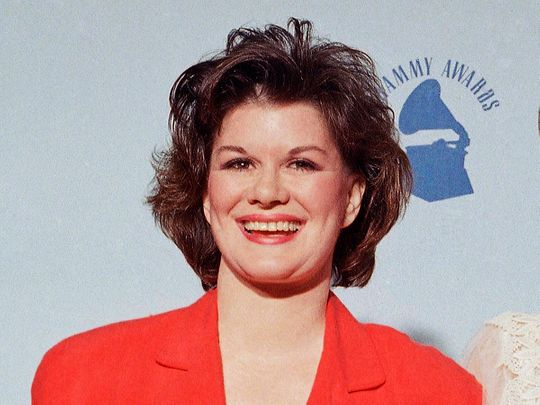 KT Oslin on Wednesday, Feb. 23, 1989 in Los Angeles at the 31st Grammy Awards.