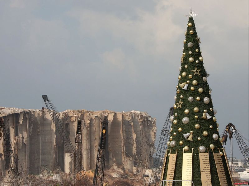 A Christmas tree in Beirut