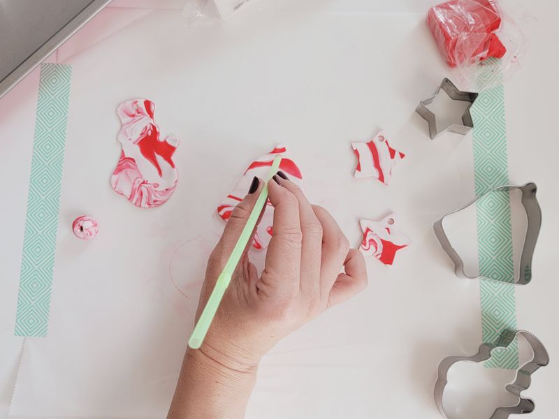 Cute Christmas crafting with kids