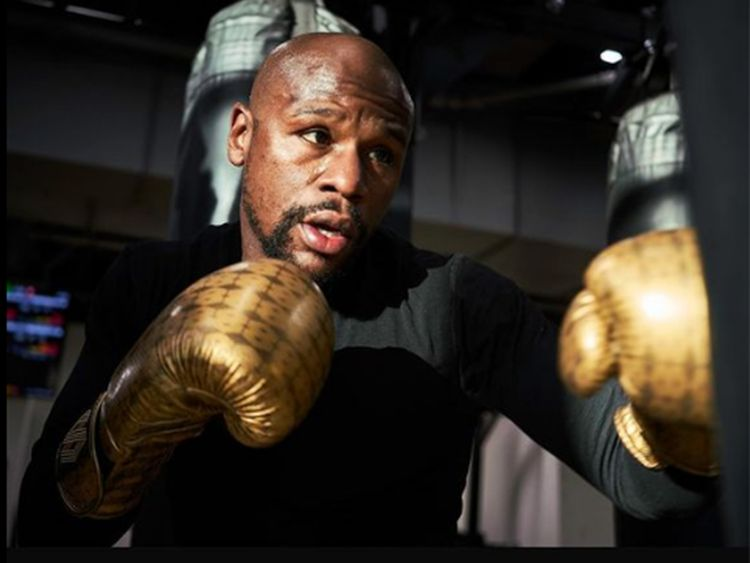 Floyd Mayweather is training hard for the Logan Paul fight