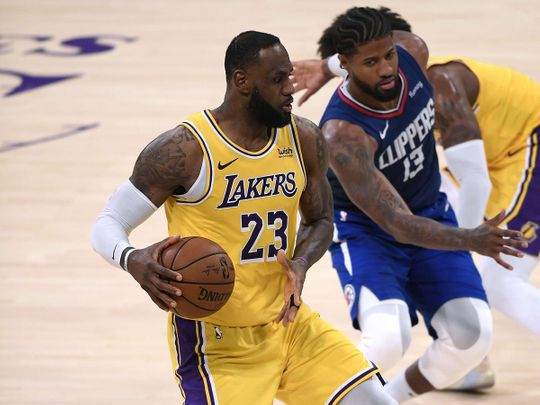 LeBron James and the LA Lakers fell to an opening NBA defeat to the Clippers