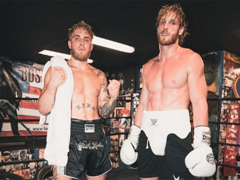 Logan Paul, right, and his brother Jake